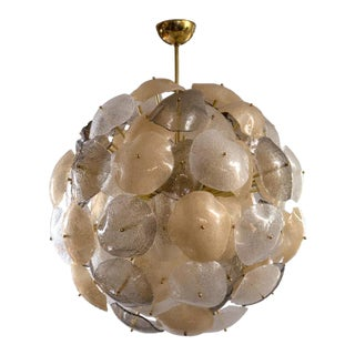 Italian Artisan Blown Orb Chandelier
