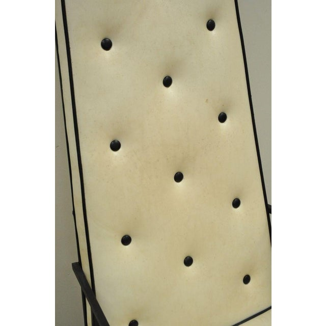 White Vintage Mid Century Modern Wrought Iron Arthur Umanoff Paul McCobb Arm Chair For Sale - Image 8 of 11