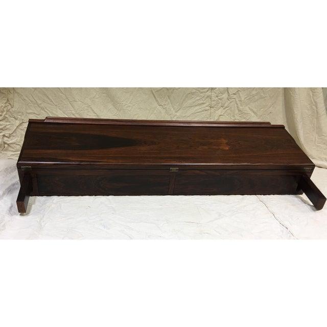 Danish Modern 1960s Danish Modern Arne Hovmand-Olsen Brazilian Rosewood Floating Desk For Sale - Image 3 of 12
