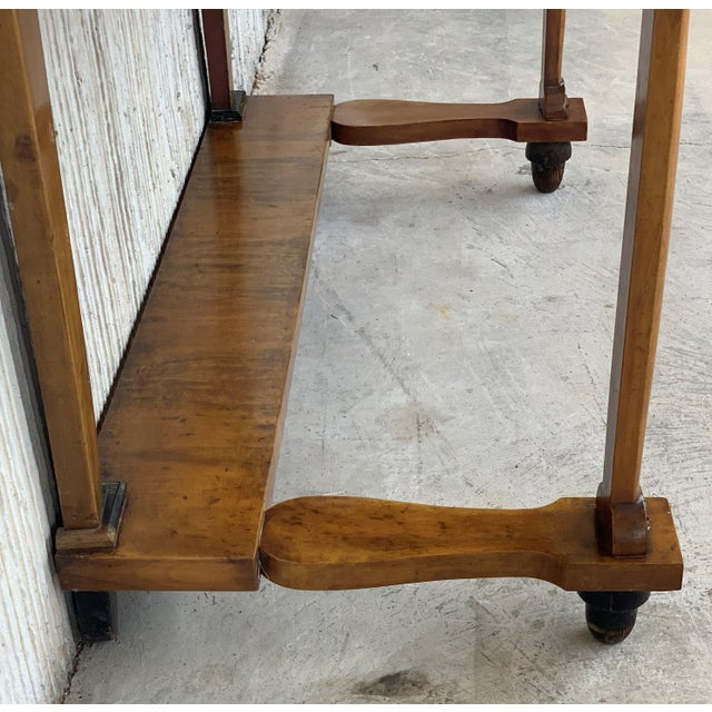 Wood Antique French Empire Fruitwood Console Table With Drawer, Early 19th Century For Sale - Image 7 of 10