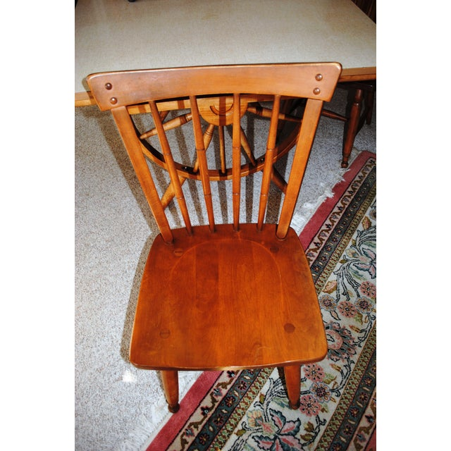 1950's Southwestern Baumritter Ethan Allan Wagon Wheel Dining Set - 5 Pieces For Sale - Image 9 of 13