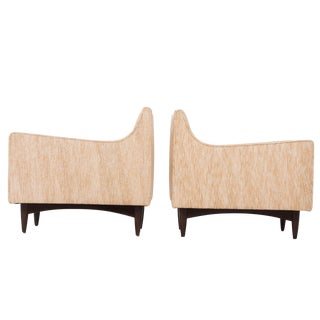 Pair of Woven Lounge Chairs in the Style of Borsani
