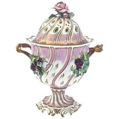 Antique Porcelain Potpourri Compote - Image 1 of 4