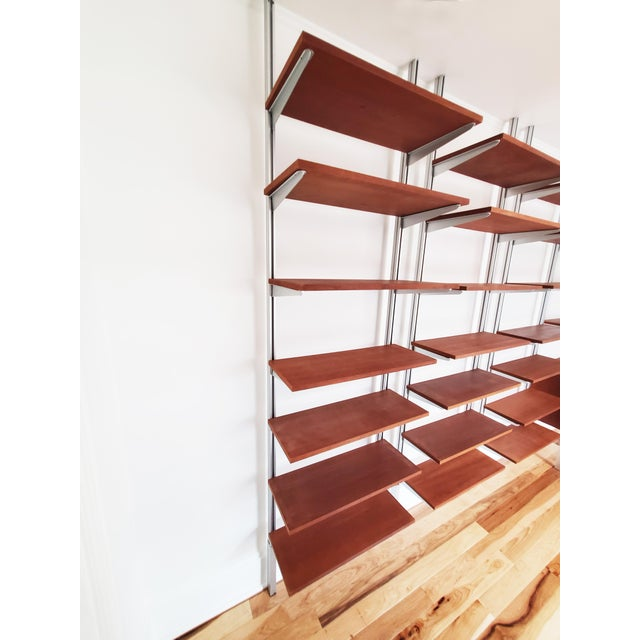 George Nelson A Mid Century Modern Wall Unit Bookshelves System For Sale - Image 4 of 11
