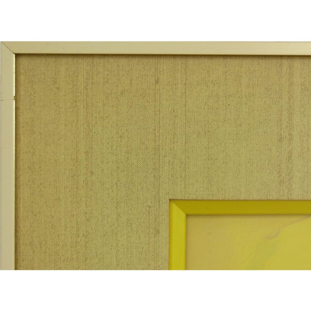 Yellow Mid-Century Owl Paintings - A Pair For Sale - Image 8 of 10
