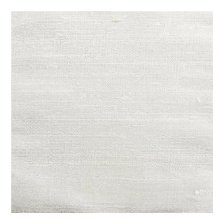 Upholstery Grade White Dupioni Silk Wallcovering - 20 Yards