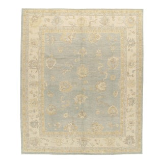 Classic Style Oushak Rug 9' X 11' For Sale