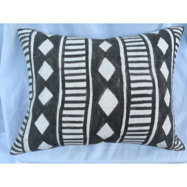 African Tribal Mud Cloth Pillow - Image 2 of 7