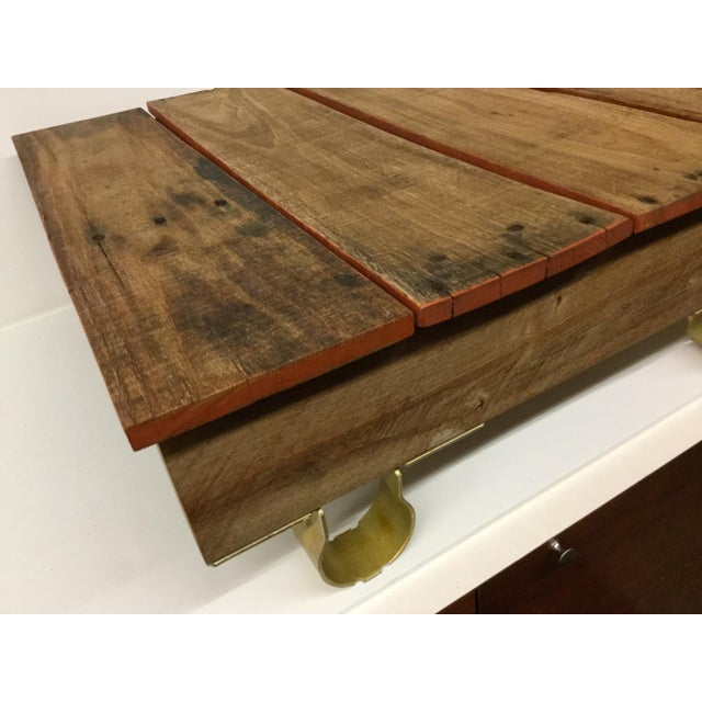 Industrial Boho Chic Low Reclaimed Hardwood Meditation Table For Sale - Image 3 of 13
