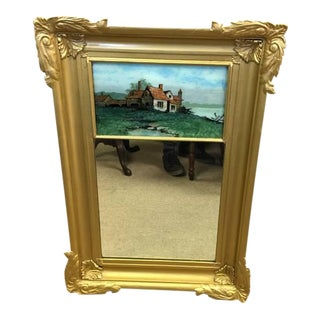 Antique Gilded Wall Mirror For Sale