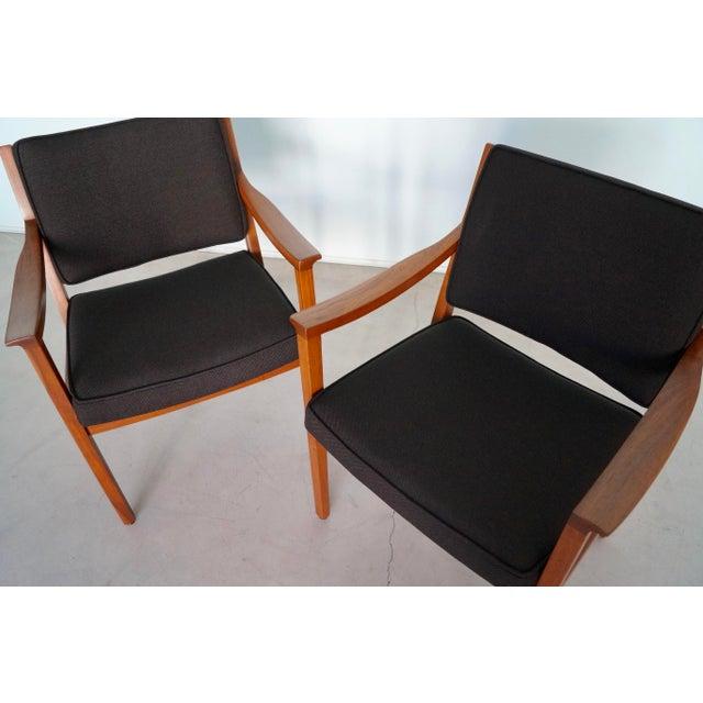 Gunlocke Mid-Century Modern Walnut Armchairs - A Pair For Sale - Image 12 of 13