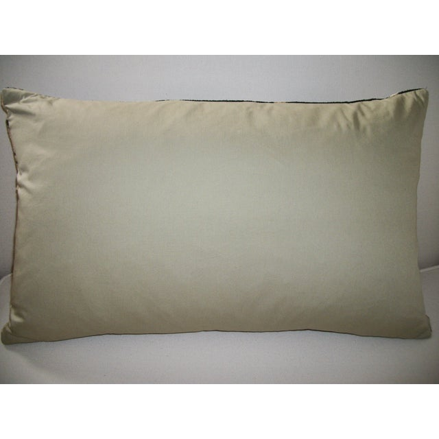 Vintage Silk Velvet Accent Pillow - Image 3 of 3