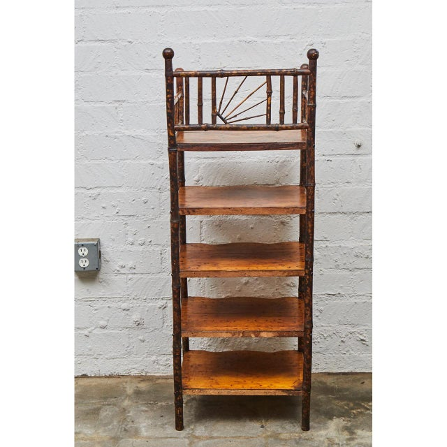 Late 19th Century English Victorian Bamboo Shelves For Sale - Image 5 of 6