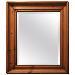 Rustic Wooden Mirror For Sale