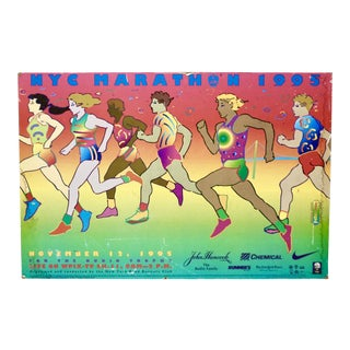 1995 Peter Max New York City Marathon Lithograph