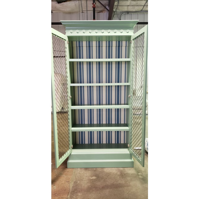 Wood Traditional Green Painted Bookcase For Sale - Image 7 of 8