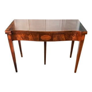 Baker Flip Top Card Table For Sale