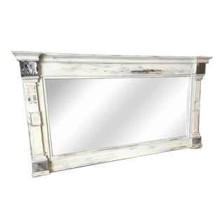 Scandinavian Painted Reclaimed Wood Mirror For Sale