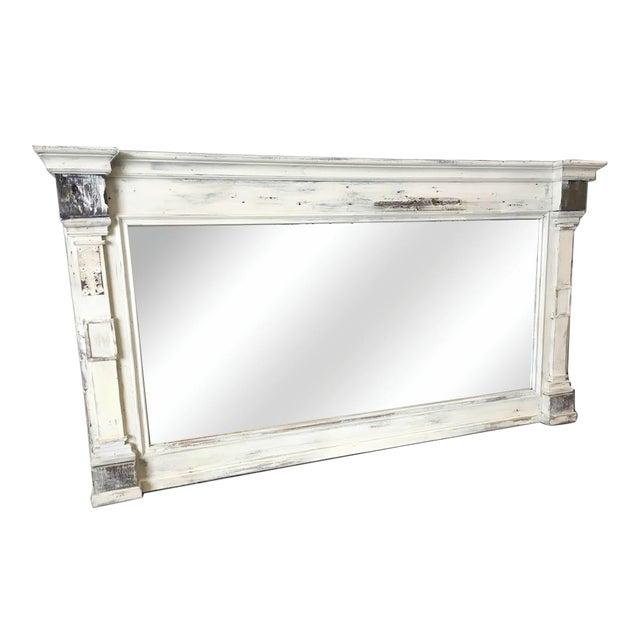 Scandinavian Painted Reclaimed Wood Mirror For Sale