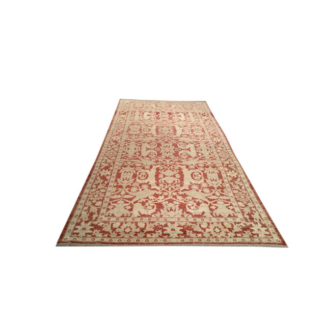 Vintage 13 Ft. Traditional Hand Made Knotted Wide Runner Rug - 6′ × 13′5″ - Image 1 of 2
