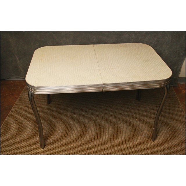 Mid-Century Modern White Formica Dinette Table - Image 10 of 12