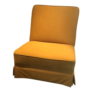 1960s Mid-Century Modern Yellow Lounge Chair on Castors