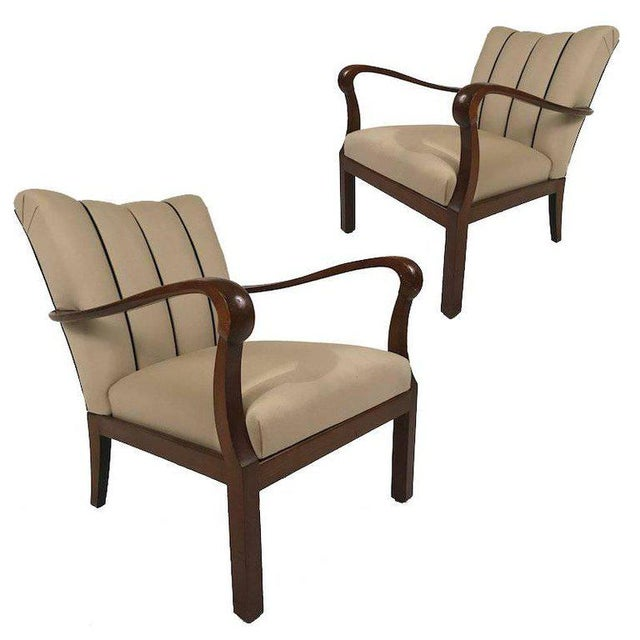 Danish Modern Mahogany Armchairs - A Pair For Sale In New York - Image 6 of 6
