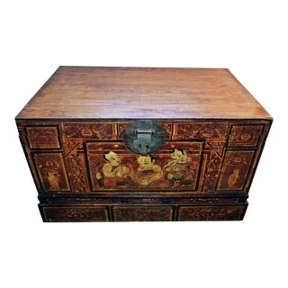 19th C. Chinese or Tibetan Monks Travel Chest For Sale
