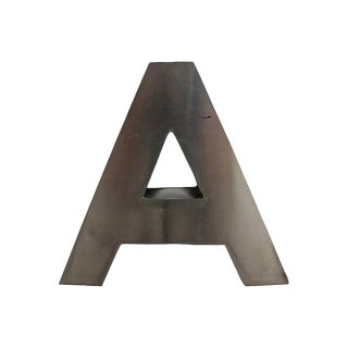 Stainless Letter A For Sale