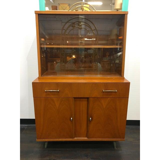 Mid Century Modern Craddock China Cabinet Hutch For Sale - Image 12 of 12