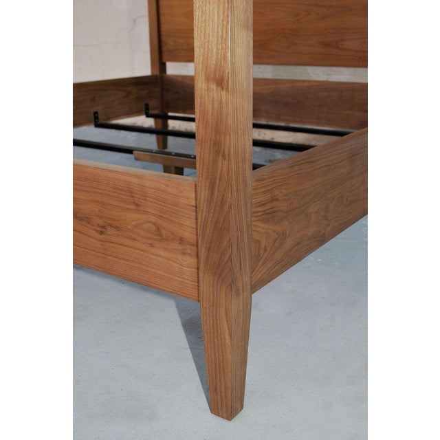 Black Walnut King Bed, Custom Made by Petersen Antiques For Sale In Los Angeles - Image 6 of 11