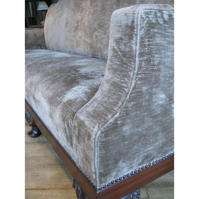 Antique 19th Century Velvet Sofa For Sale In New York - Image 6 of 9