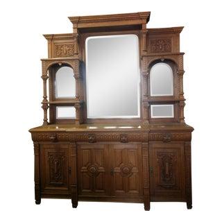 Victorian Mirrored Bar Cabinet