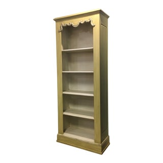Vintage French Country Style Tall Painted Bookshelf For Sale