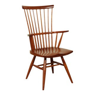 Robert Whitley Studio Crafted Cherry Windsor Armchair For Sale