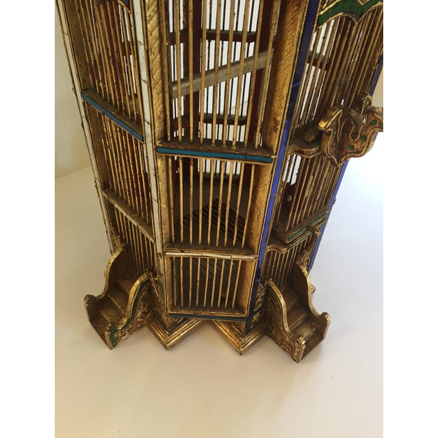 Asian Spirit House Thai Shrine Temple Bird Cage For Sale - Image 10 of 12