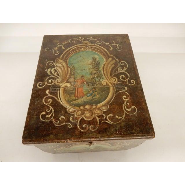 19th Century 19th Century Italian Painted Scenes on Herb Box For Sale - Image 5 of 7