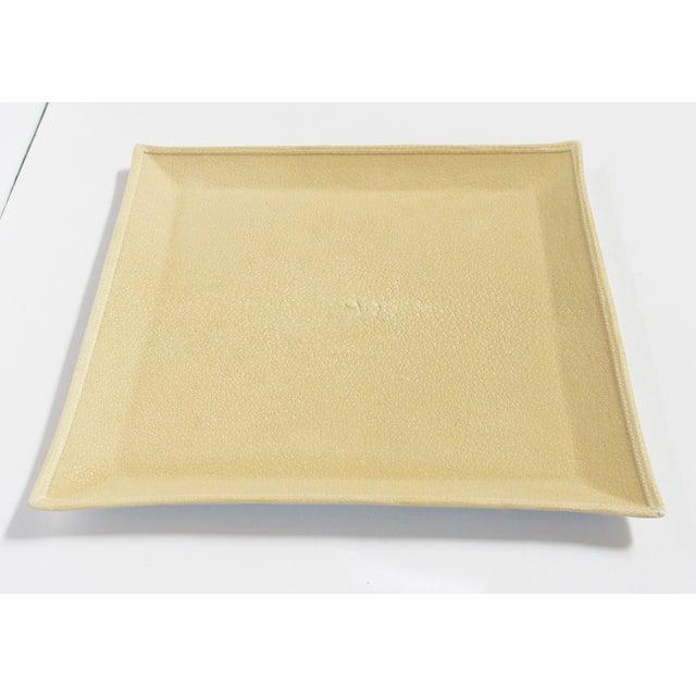 Italian Ivory Shagreen Tray by Fabio Ltd For Sale - Image 3 of 7