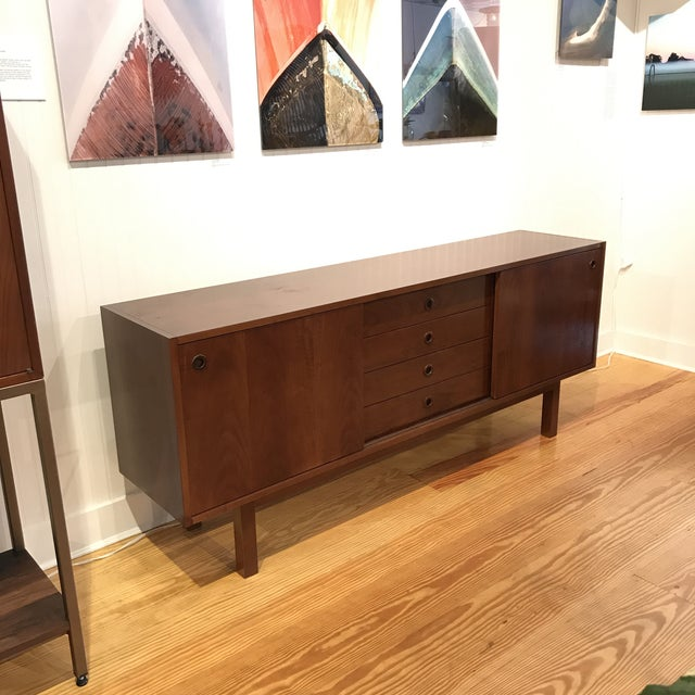 Mid-Century Walnut Credenza For Sale - Image 10 of 10