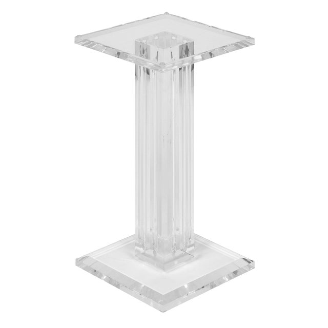French Mid-Century Lucite Pedestal For Sale