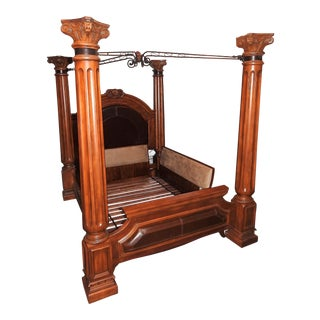 Luxury 4-Pillar Cherry Master Bedframe For Sale