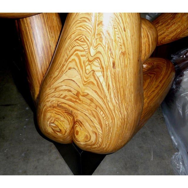 Sculpting Monumental Carved Wood Nude Sculpture by Hy Farber For Sale - Image 7 of 8
