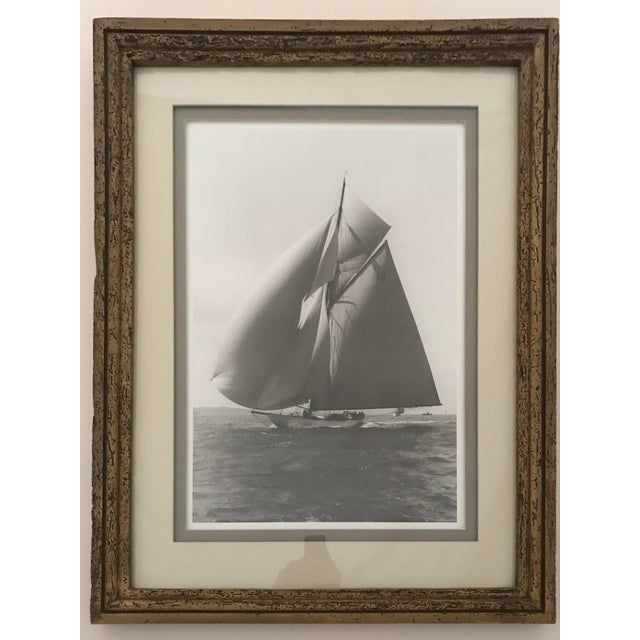 """Framed and Double Shadow Mount Matted """"Candida"""" Black & White Prints From 1923 & The """"Velsheda"""" From 1943 - a Pair For Sale - Image 4 of 13"""