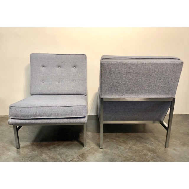 1960s Early Florence Knoll Designed Slipper Chairs - a Pair For Sale - Image 5 of 13