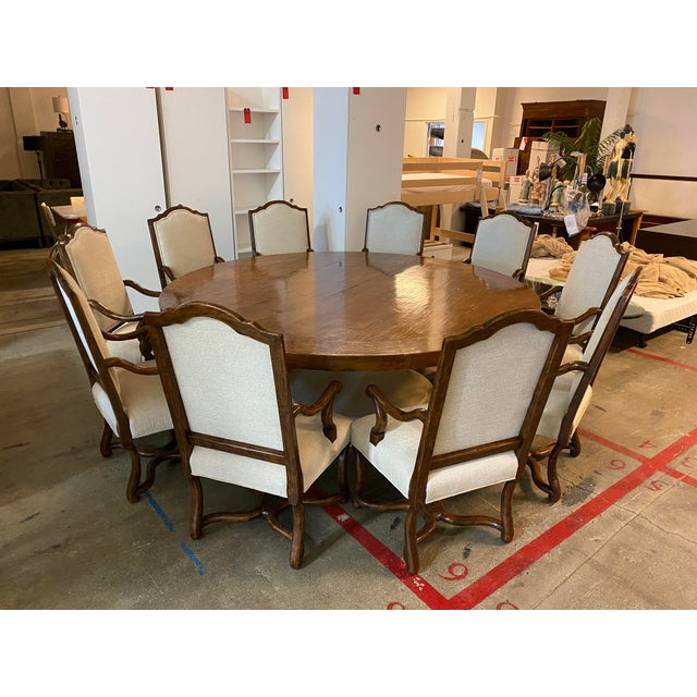 Michael Taylor Table + Set of 10 Custom Design Chairs Dining Set For Sale - Image 10 of 13