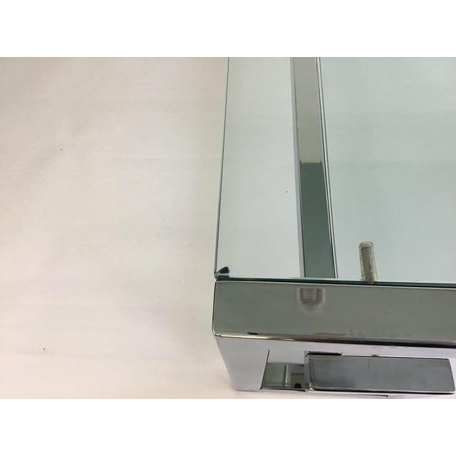 1970s Modern Chrome Greek Key Coffee Table For Sale In Charleston - Image 6 of 13