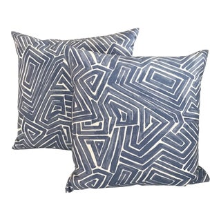 Transitional One Pindler & Pindler Down and Feather Pillows - a Pair For Sale
