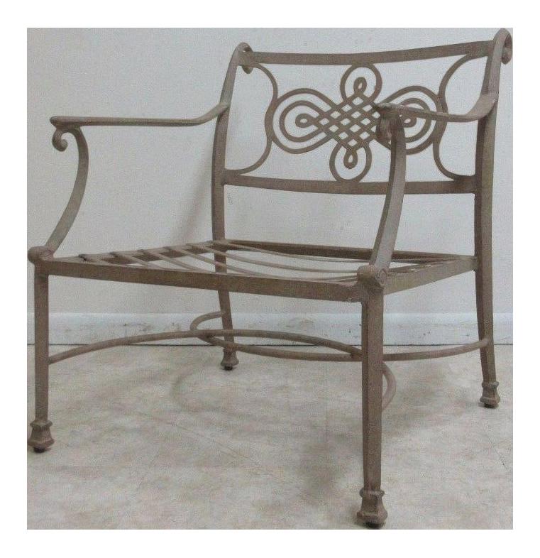 Woodard Landgrave Cast Classics Aluminum Patio Lounge Chair | Chairish