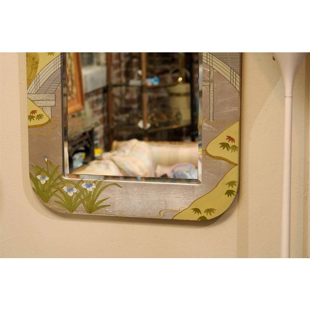Regency Painted Silver Chinoiserie Mirror - Image 7 of 8