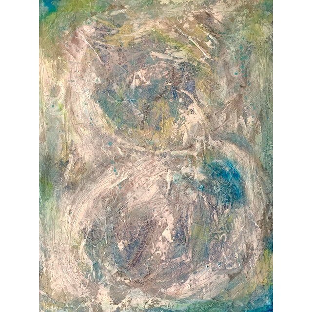 """Original Mixed Media Painting, """"Cosmic Swirls"""" For Sale - Image 11 of 11"""